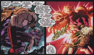 Rogue's comic book dialog