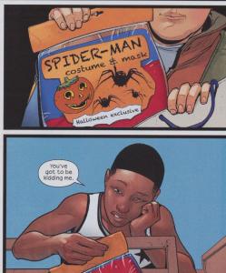 Ultimate Spider-Man #4 - Genke's idea for Miles' costume