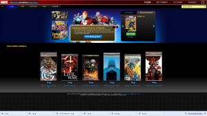Marvel Chrome Comic app starts up