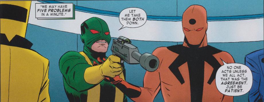"""Daredevil #6 - """"Let me take them both"""" oh.... tropes...."""