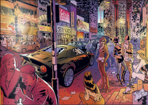 Sex #1 - Saturn City as 1980s New York City (Image Comics)