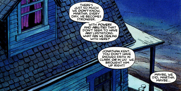 panel from Superman For All Seasons #1