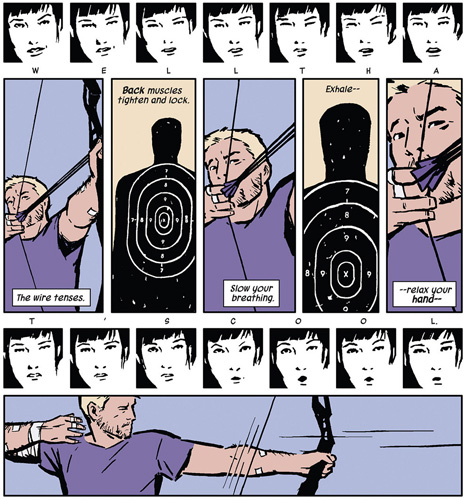 panel from Hawkeye #2