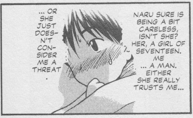 Love Hina Book 3 - Keitaro is not a threat