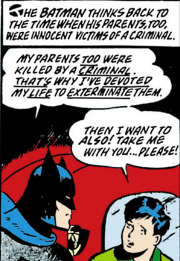 Batman Vol 1 #38 - Batman considers that both he and Dick had parents who were murdered...