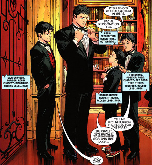 Bruce and his Kids - Damian takes another swipe at Tim Drake