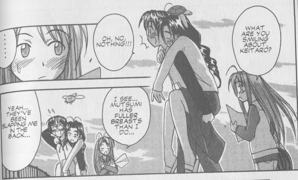 Love Hina Book 6 - Naru Jealous of Mutsumi's Breasts