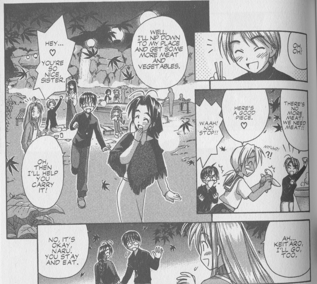 Love Hina Book 6 - Naru isnt happy with Keitaro going with Mutsumi