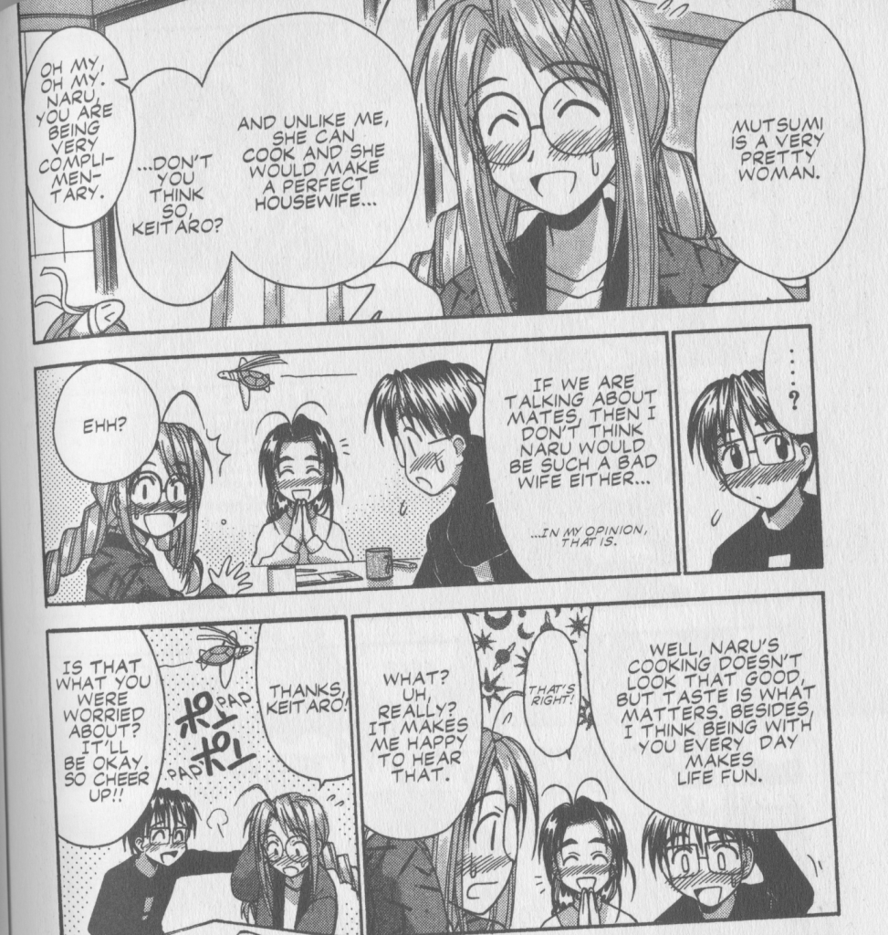 Love Hina Book 6  - Why Mutsumi is a better wife than Naru when it comes to cooking