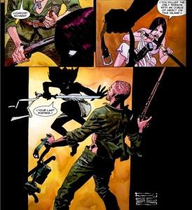 Wolverine: Logan #2: Atsuko fights.