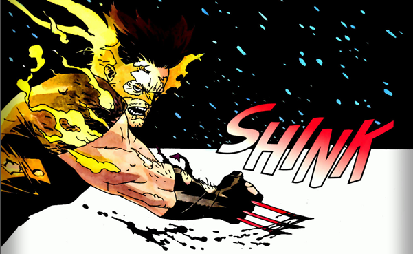 Wolverine: Logan #3: On fire.