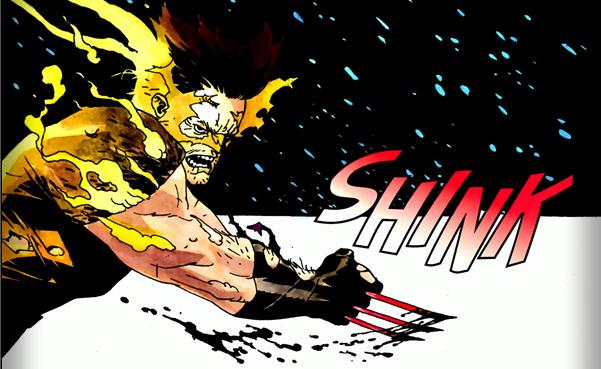 Wolverine: Logan #3: On fire.