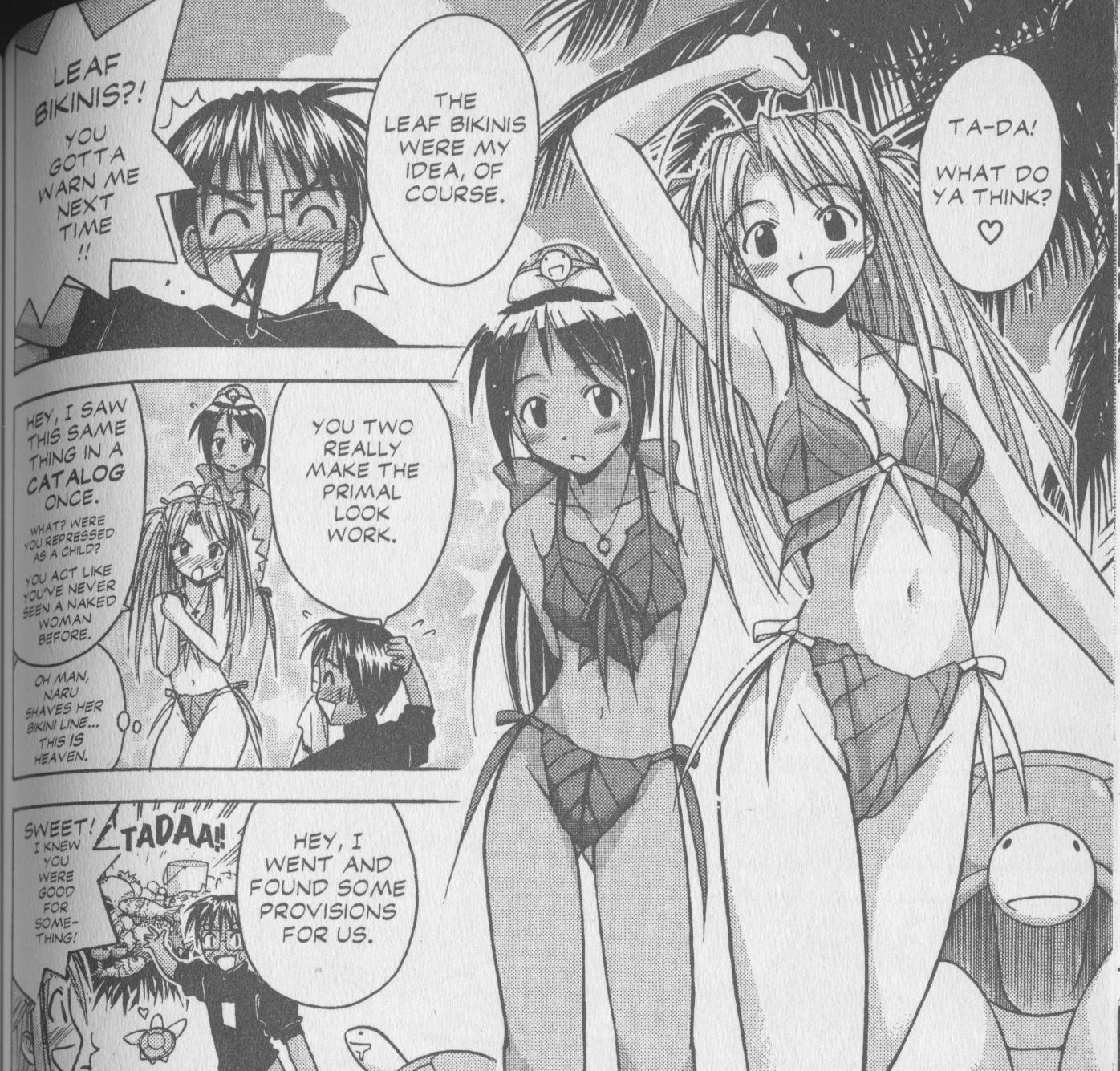 Leaf bikini love hina dating