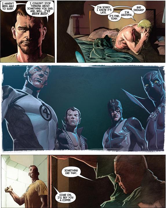 Avengers v5 #1: Cap's nightmare.