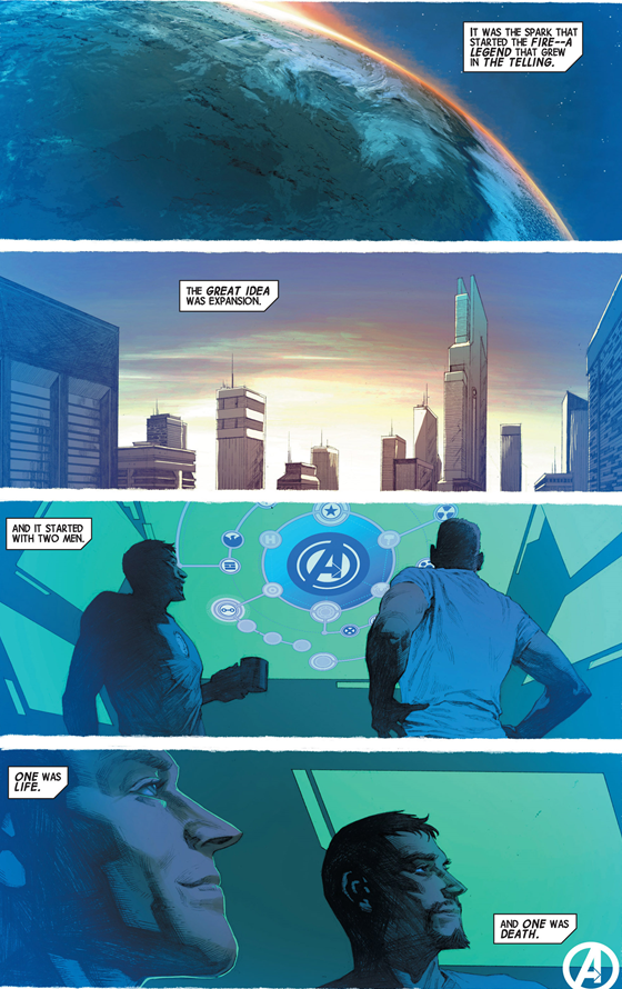 Avengers v5 #3: Steve is life and Tony is death.