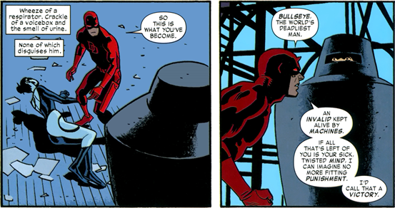 Daredevil v3 #26: Bullseye is a shadow of his former self.