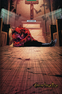 Daredevil v2 #5: Karen dies in Matt's arms.