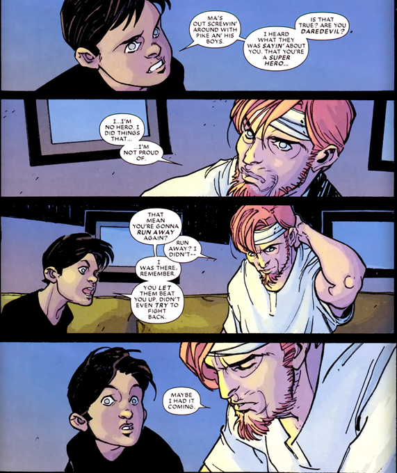 Daredevil Reborn #4: Matt doesn't think he's a hero.