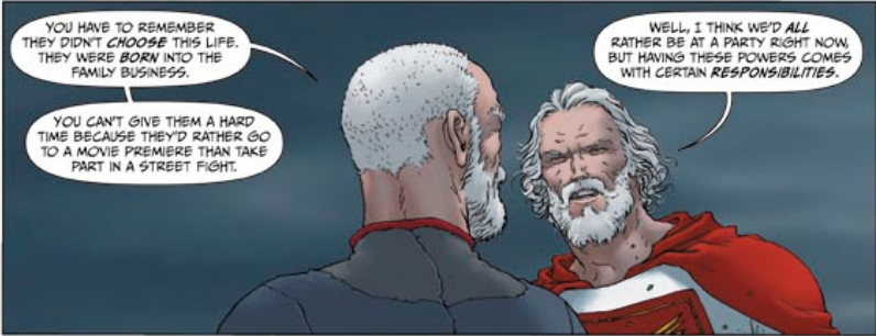 Jupiter's Legacy #1 - Not quite the Spider-Man motto