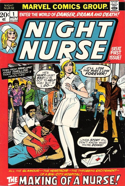 Night Nurse #1: Cover of Night Nurse issue one from 1972.