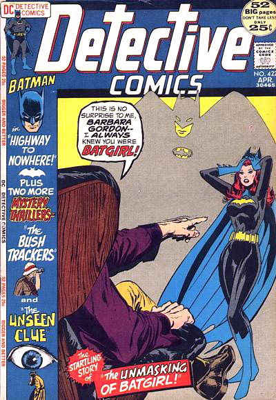 Detective Comics #422: Barbara was Batgirl.