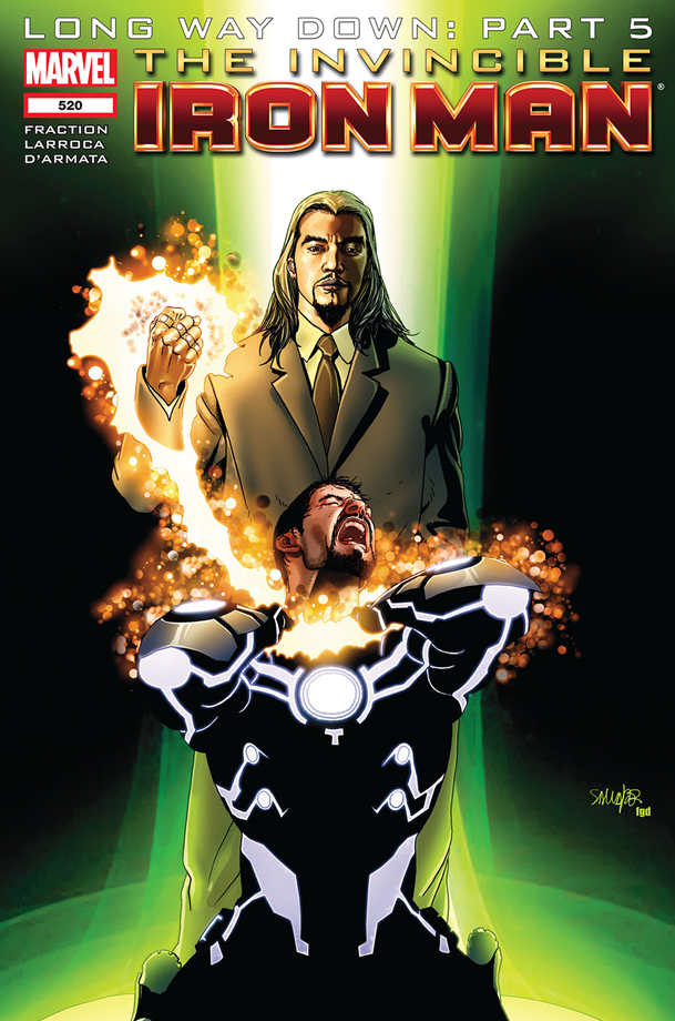 The Invincible Iron Man #520: The Mandarin's modern appearance.