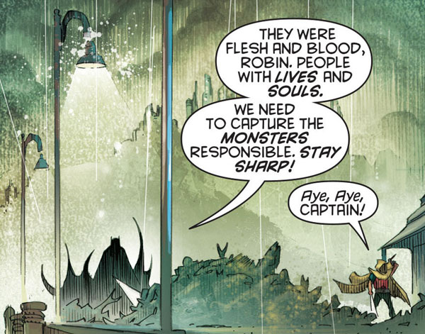 Damian: Son of Batman #1: I'm pretty sure no Robin has said that since Dick was in the short pants.