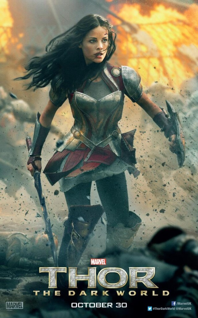 Thor: The Dark World promotional poster: Sif is wearing actual armor.