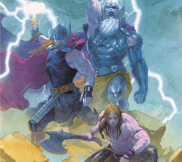 Thor: God of Thunder #9: Cover with all three Thors.