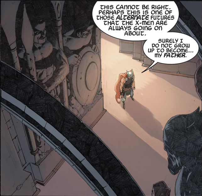 Thor: God of Thunder #7: Thor doesn't want to grow into his father.