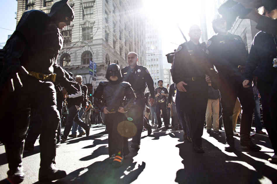 Batkid saves the day! Image from NPR.