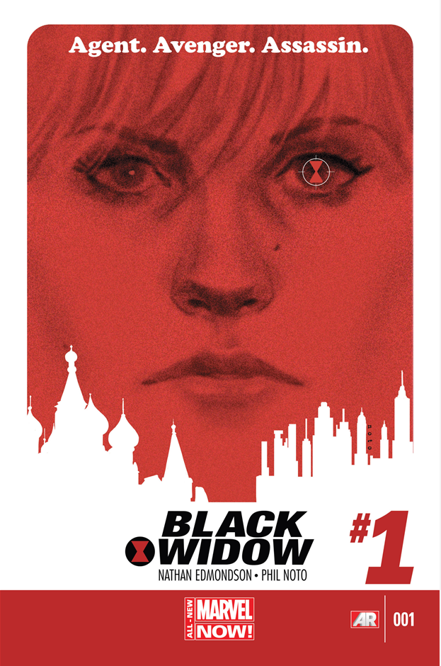 Black Widow #1: The cover art emphasizes the eyes which seems to be a recurring theme.