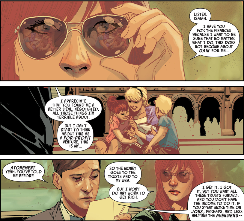 Black Widow #1: Natasha lets Isaiah know why she does what she does.