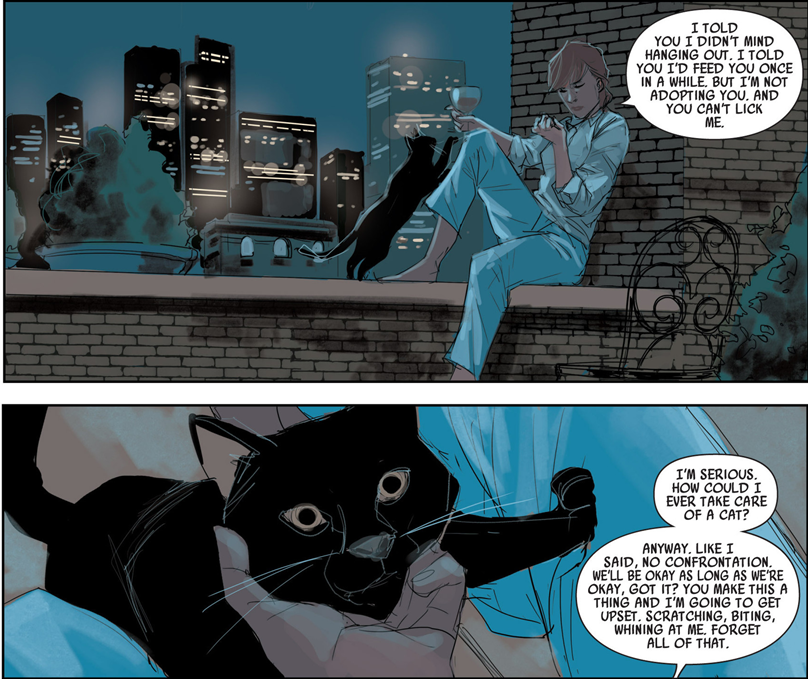 Black Widow #1: Will Liho be the new Pizza Dog?