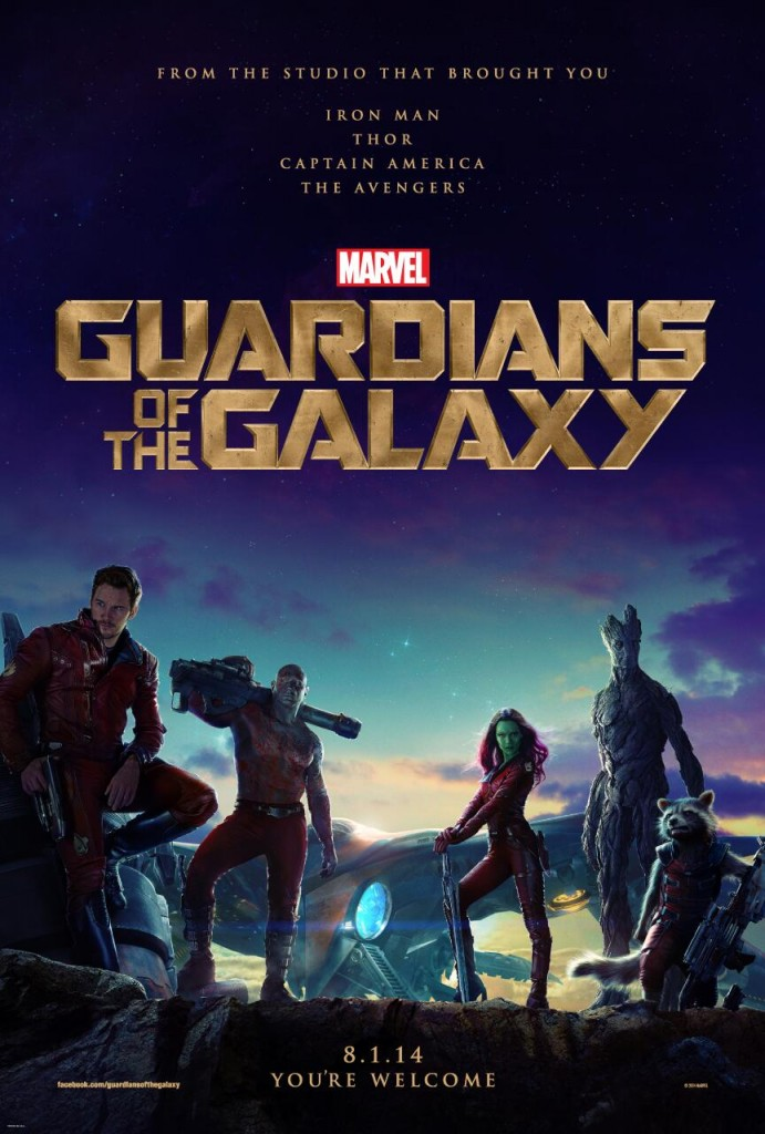 Guardians of the Galaxy poster: Marvel is making sure to connect this movie to their past successes right on the poster.