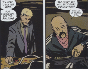Hawkeye: Clint pays rent for the entire buliding