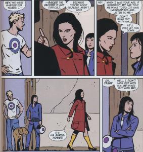 Hawkeye: Kate defends Clint (Kinda)