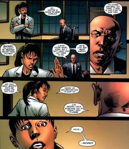 Professor X deciding to erase Scott's memory