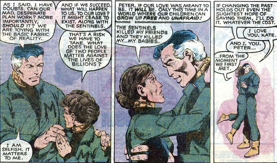 Uncanny X-Men v.1 issue #141 – Kitty has her priorities straight.