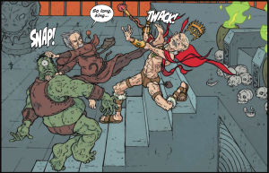 The Manhattan Projects #20 - Einsteni fights alternate universe Oppenheimer and Groves