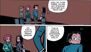 Scott Pilgrim's Precious Little Life - Wallace Wells post-kiss