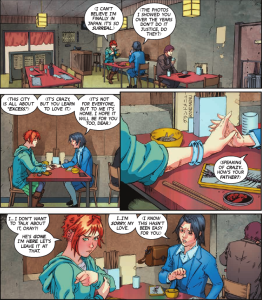 Wayward #1 - Cummings' use of angles and attention to details