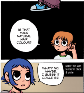 Scott Pilgrim Vol 3 - Ramona's hair color