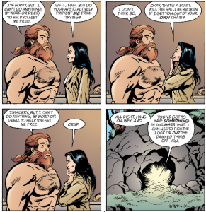 Fables Volume 2 - Weyland's Unhelpful Answers remind me of old school adventure games