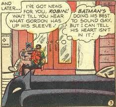 Batman's heart isn't in being gay