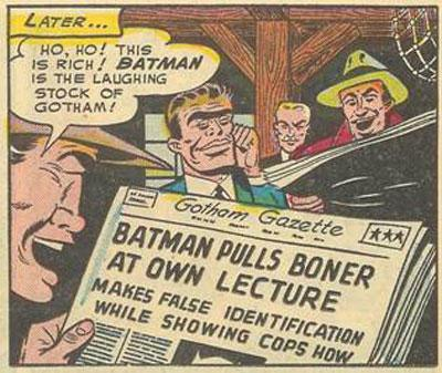 Batman pulls boner at own lecture