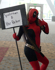 "Deadpool informs us that ""Spiderman is Peter Parker"""