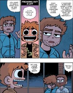 Scott Pilgrim's Finest Hour - Scott is freaking out a little