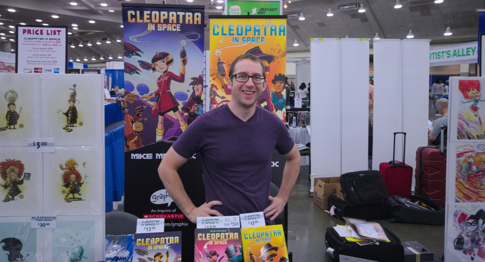 Mike Maihack at Baltimore Comic-Con 2016