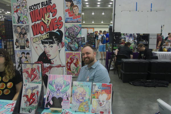 Scott Blair, creator of Vamps vs Wolves